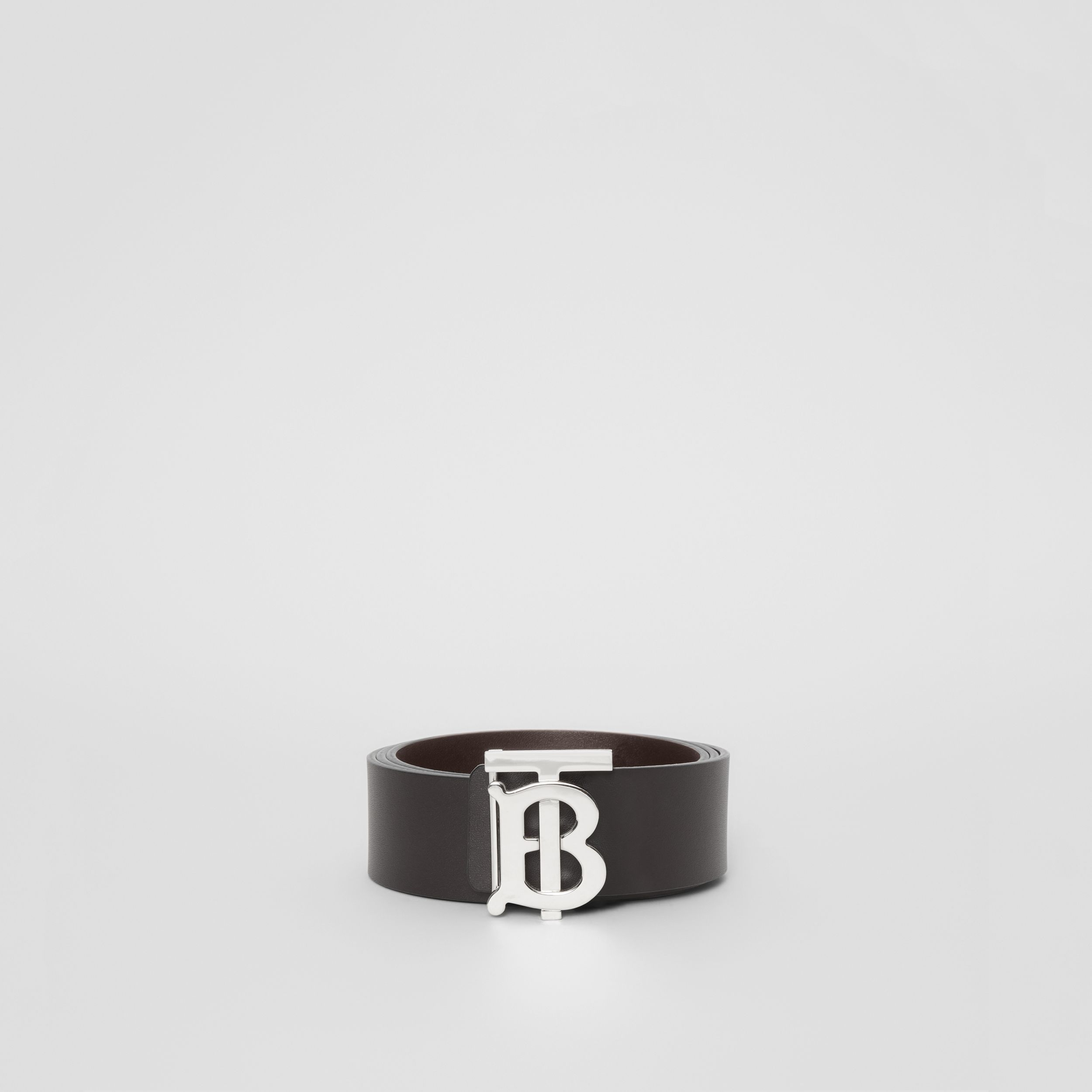 Reversible Monogram Motif Leather Belt in Black/malt Brown | Burberry Australia - 4