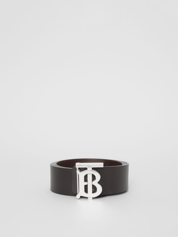 Reversible Monogram Motif Leather Belt in Black/malt Brown - Men | Burberry - cell image 2