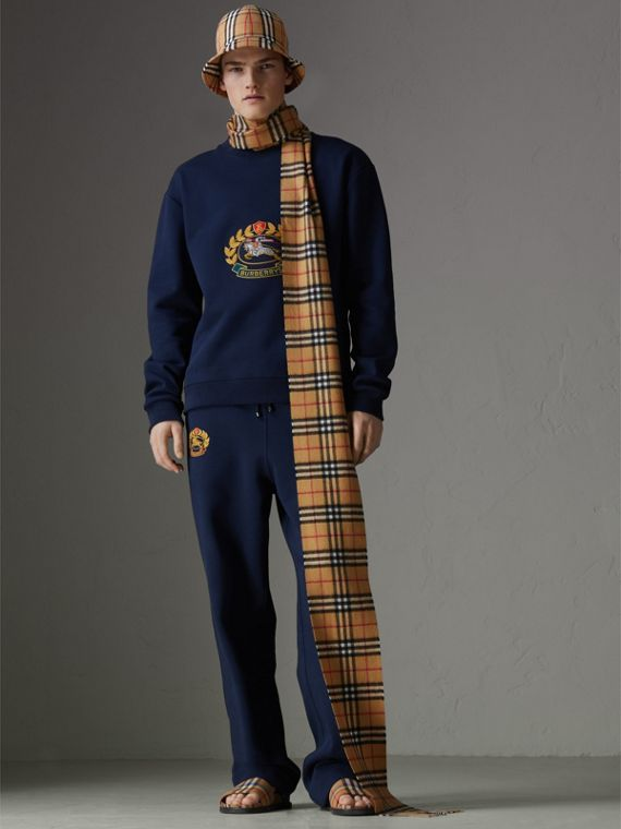 Long Vintage Check Cashmere Scarf in Antique Yellow | Burberry United Kingdom - cell image 3