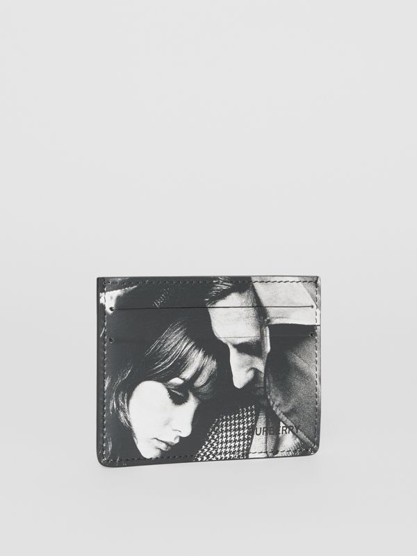 Archive Campaign Print Leather Card Case in Black/white - Men | Burberry - cell image 3