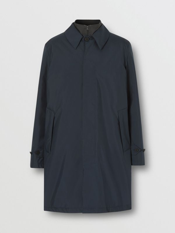 Down-filled Car Coat with Detachable Warmer in Navy - Men | Burberry - cell image 3