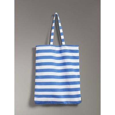 Archive Logo Striped Shopper - Blue Burberry Beyi0o7m