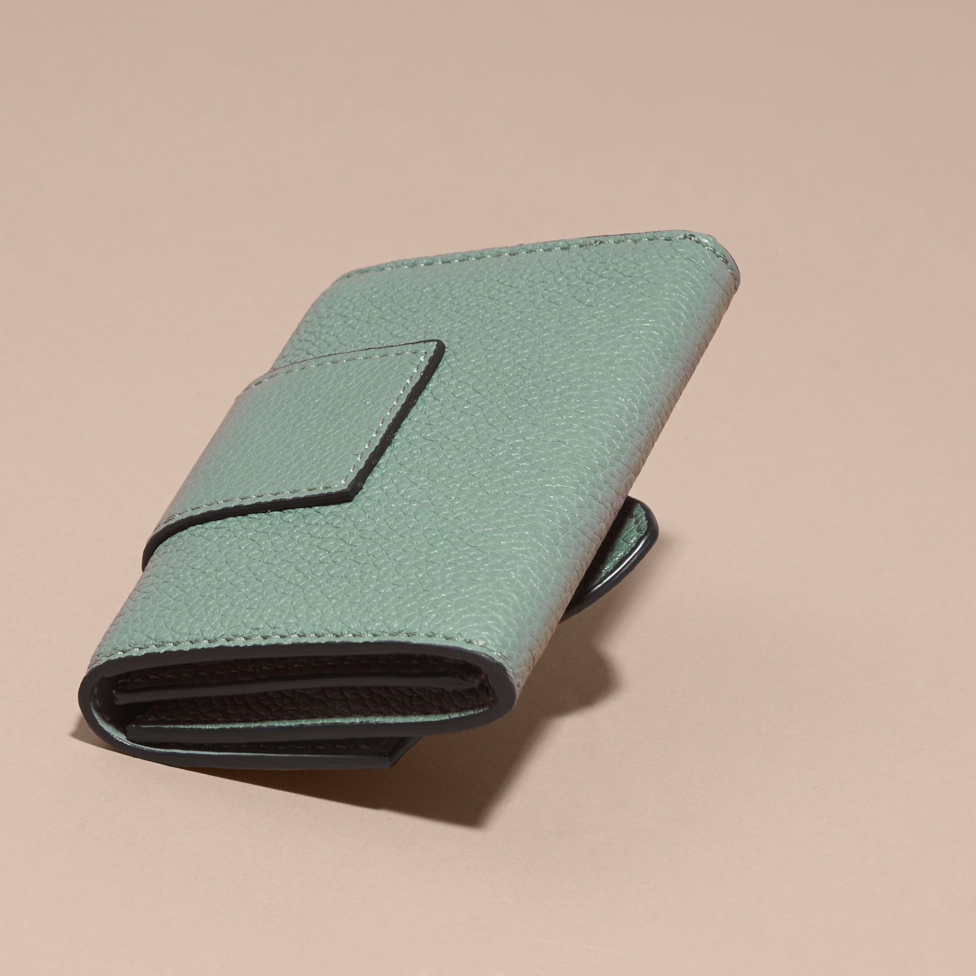 Buckle Detail Leather Card Case - gallery image 4