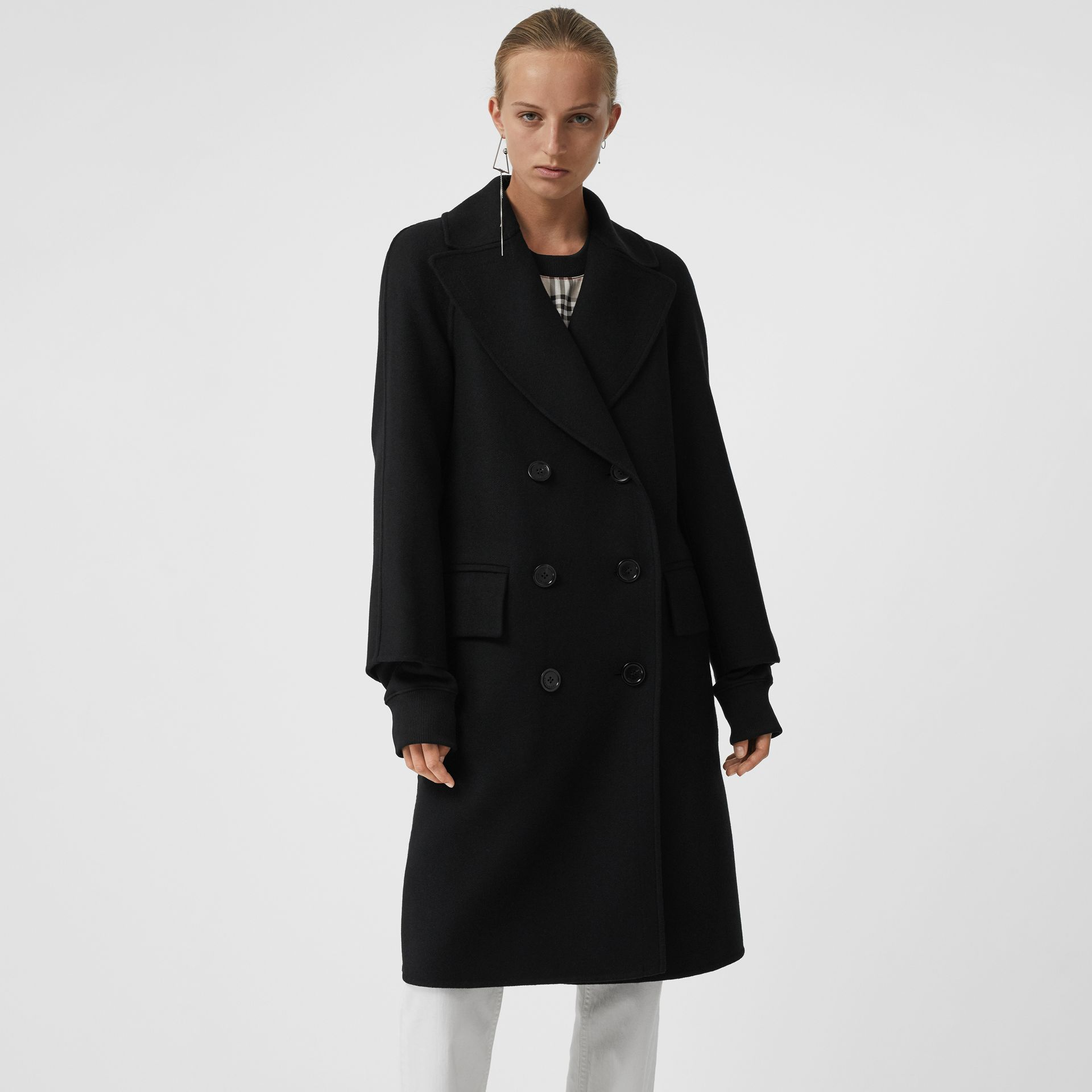 Double-faced Cashmere Tailored Coat in Black - Women | Burberry - gallery image 5