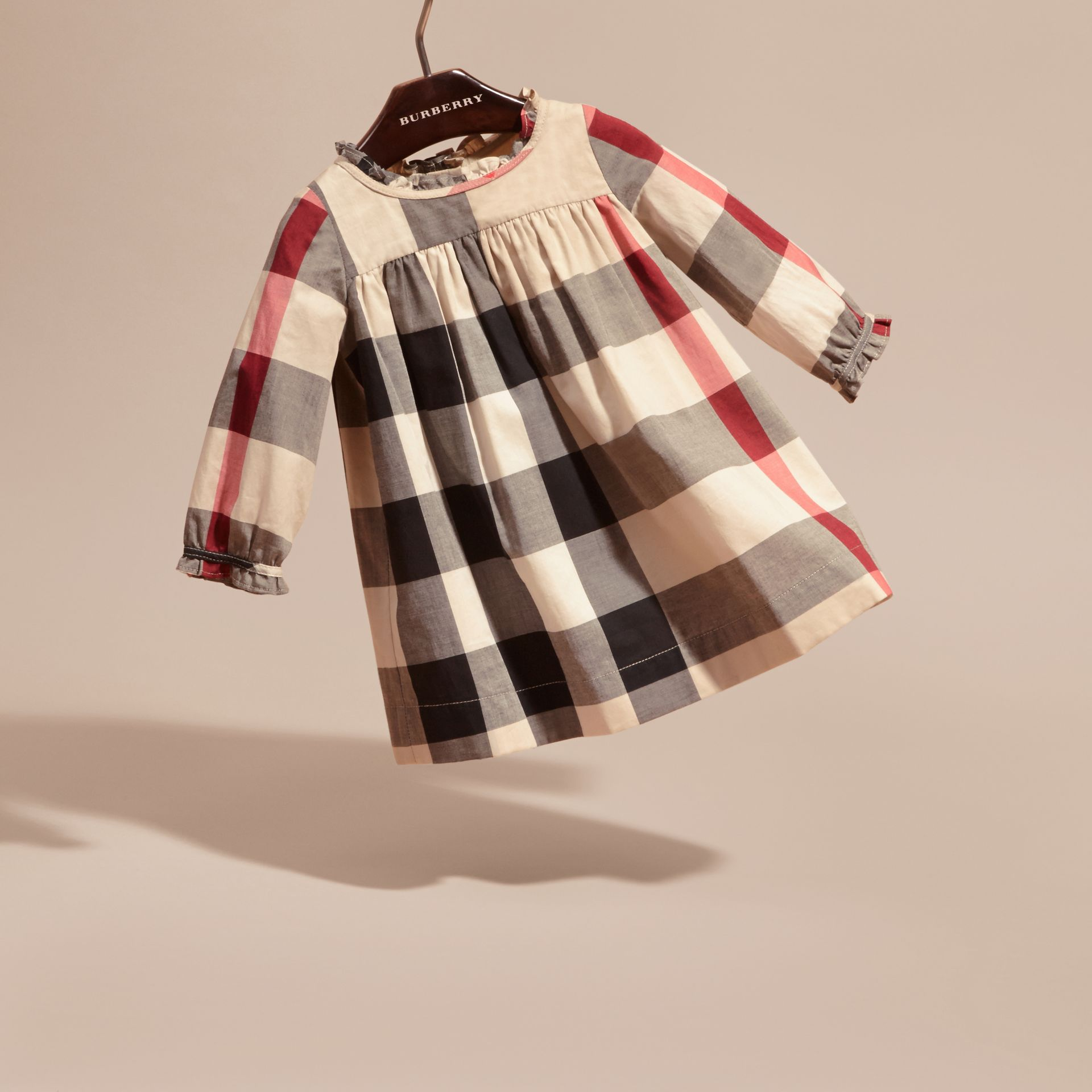 New classic check Check Cotton Dress with Ruffle Detail New Classic - gallery image 3