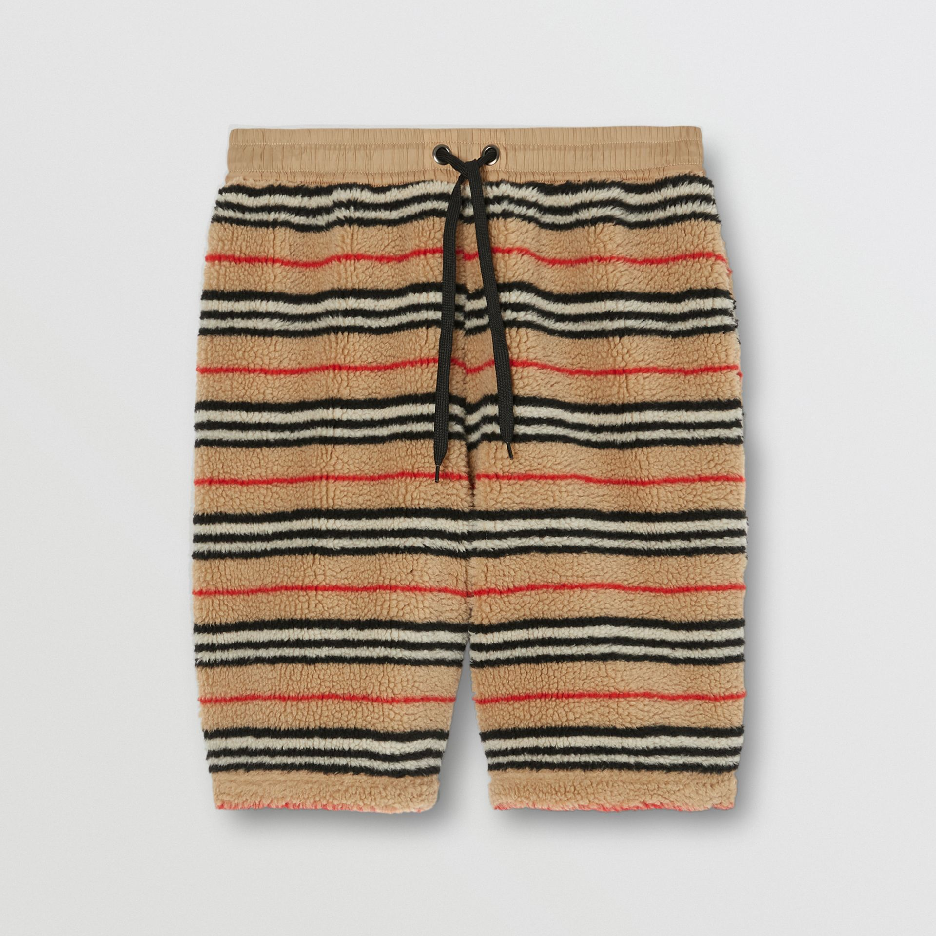 Icon Stripe Fleece Drawcord Shorts in Archive Beige - Men | Burberry - gallery image 3