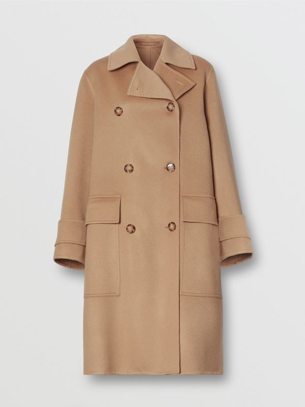 Double-faced Cashmere Oversized Coat in Light Camel - Women | Burberry United Kingdom - cell image 3