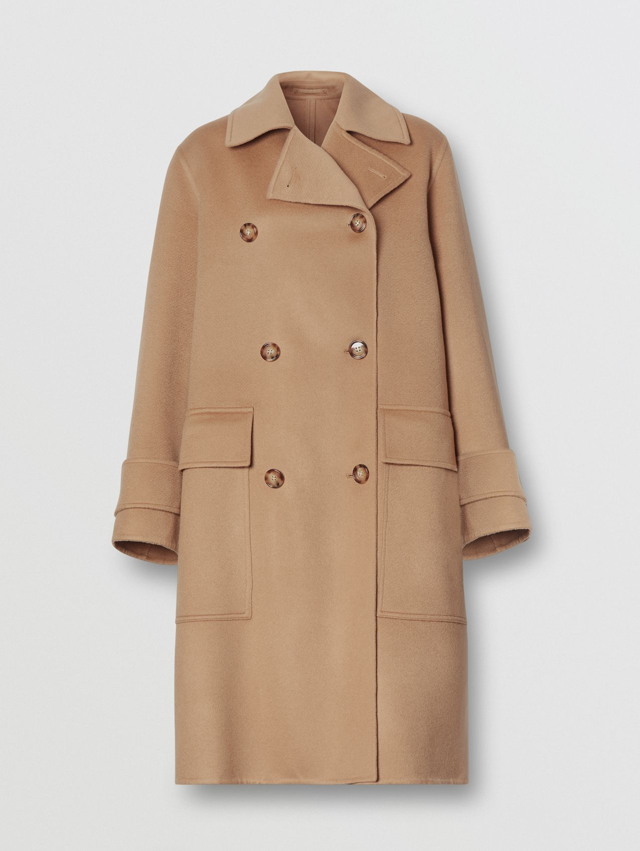 Double-faced Cashmere Oversized Coat in Light Camel