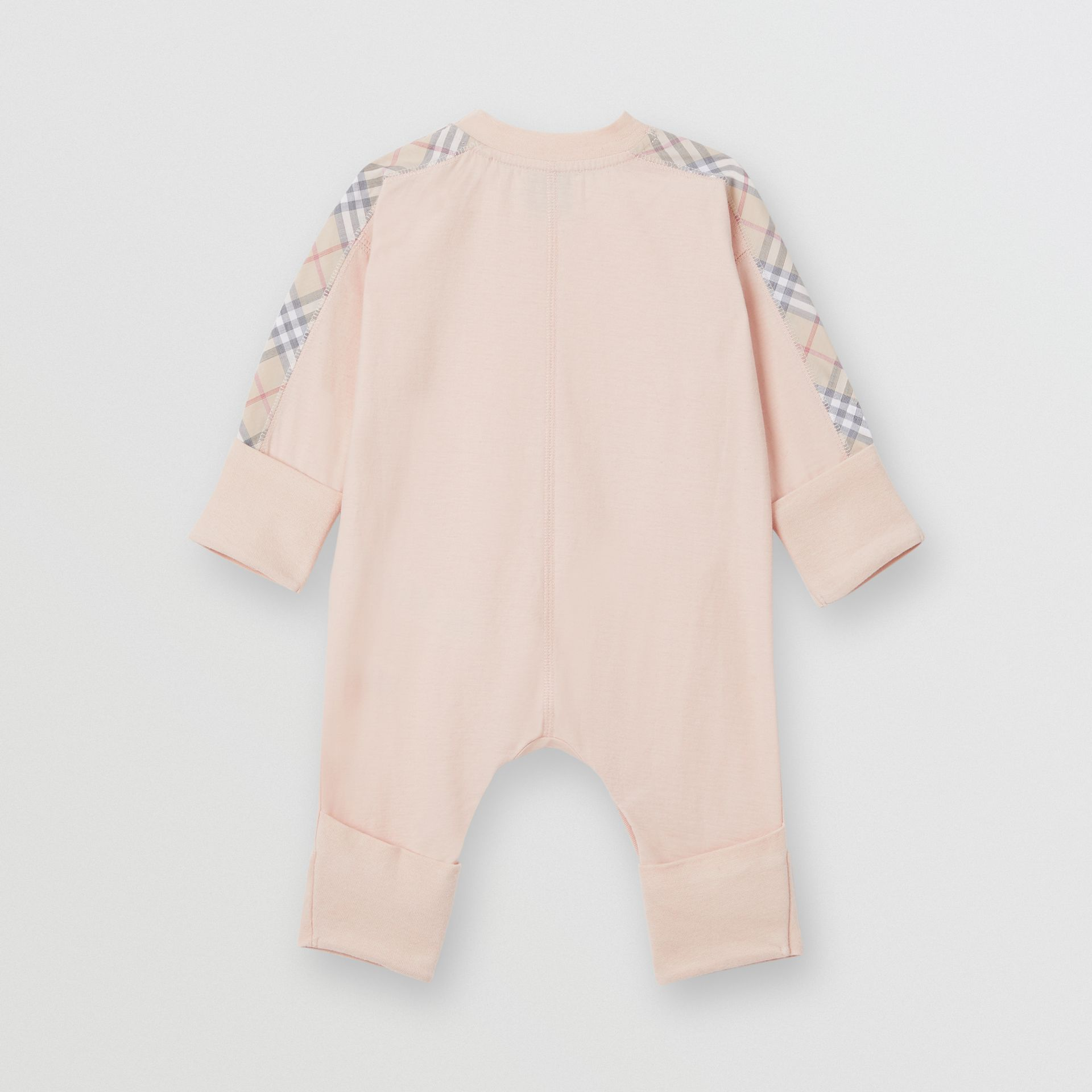 Check Cotton Three-piece Baby Gift Set in Pale Rose Pink - Children | Burberry - gallery image 3