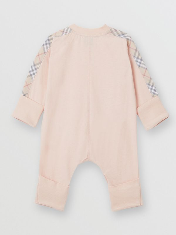 Check Cotton Three-piece Baby Gift Set in Pale Rose Pink - Children | Burberry - cell image 3