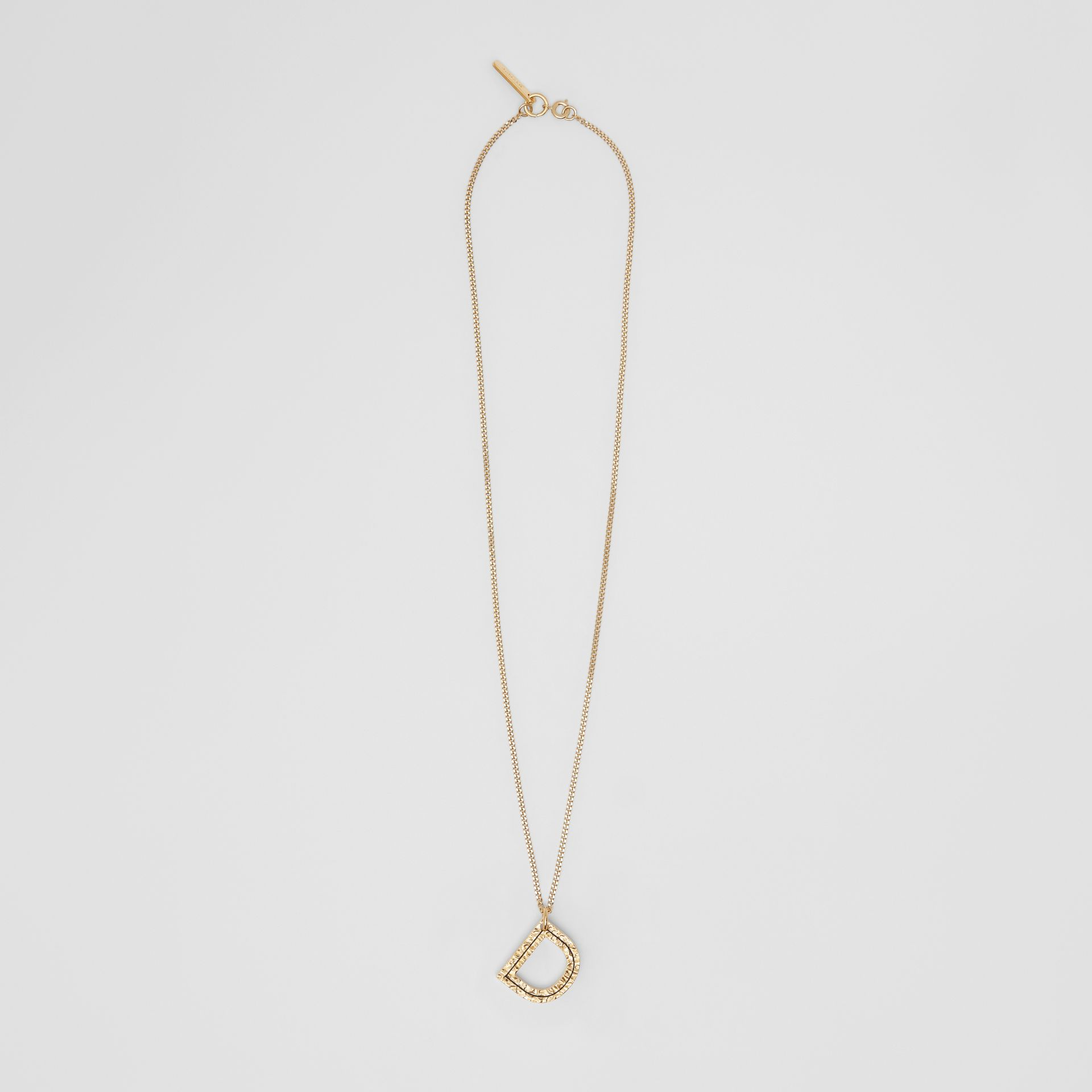 'D' Alphabet Charm Gold-plated Necklace in Light - Women | Burberry United Kingdom - gallery image 0