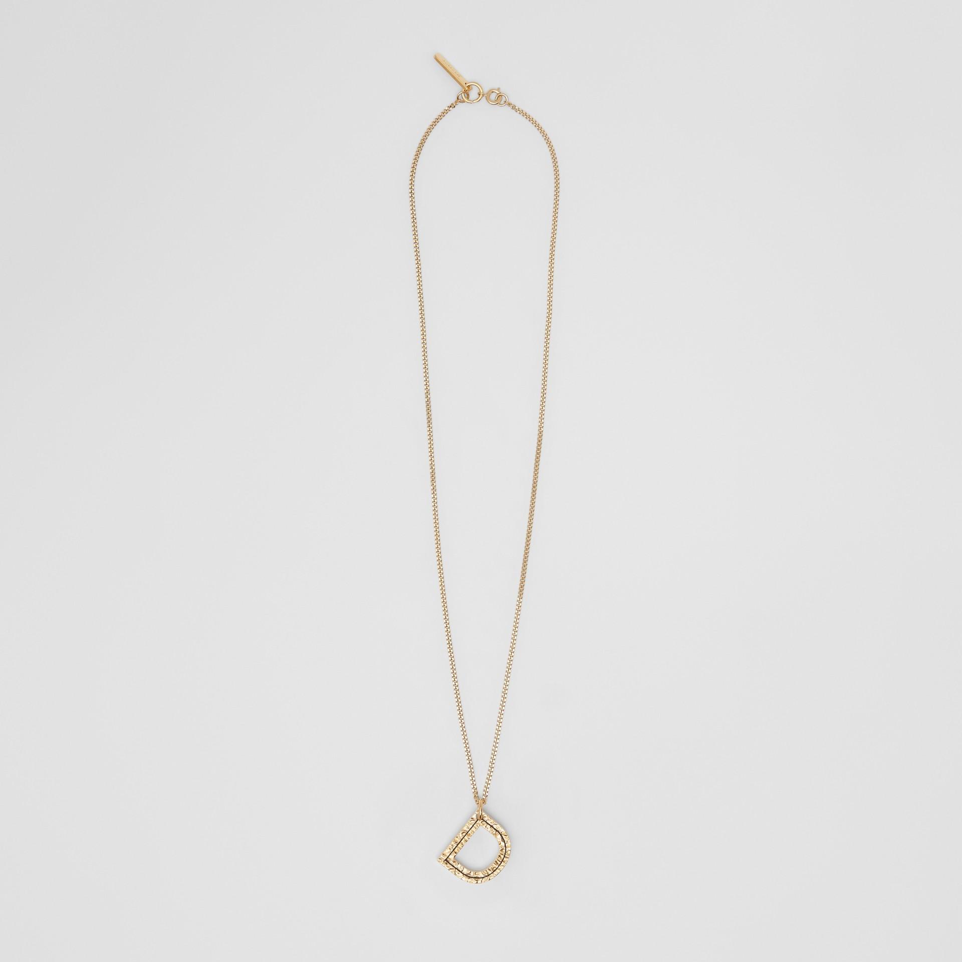 Vergoldete Halskette mit D-Anhänger (Helles Goldfarben) - Damen | Burberry - Galerie-Bild 0