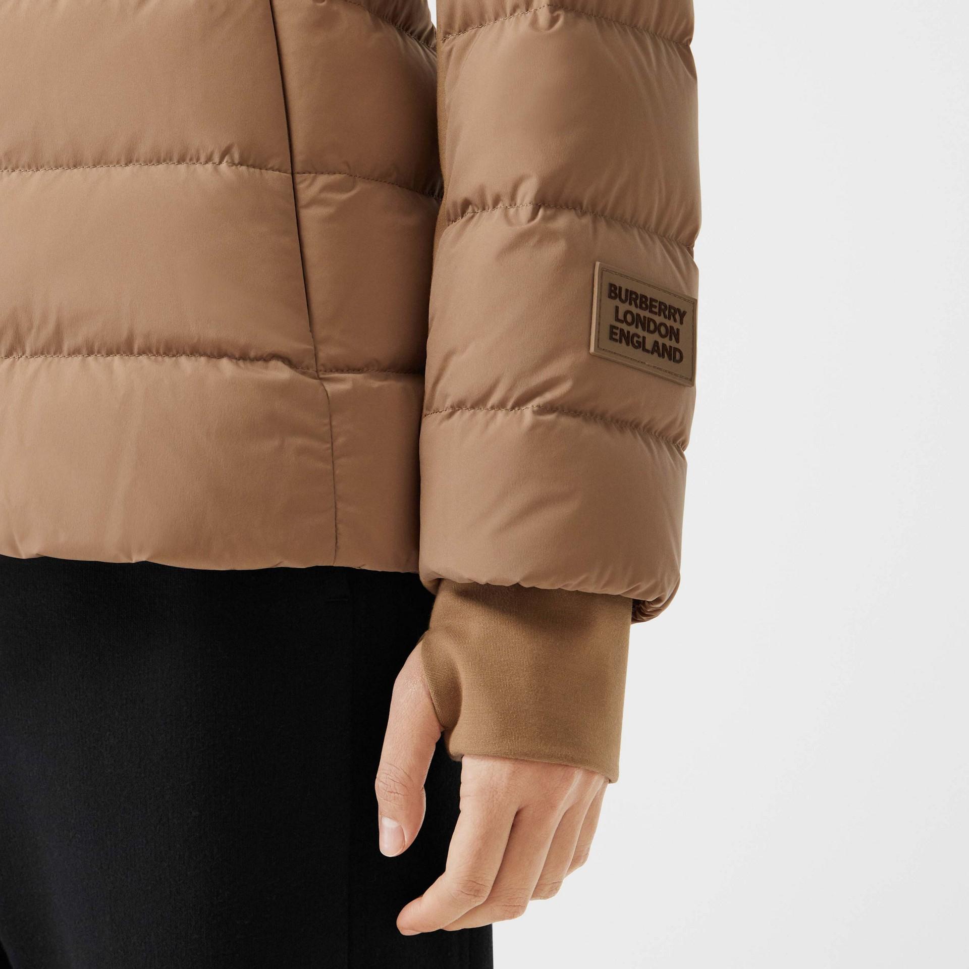 Faux Fur Trim Detachable Hood Puffer Jacket in Soft Camel - Women | Burberry United Kingdom - gallery image 4
