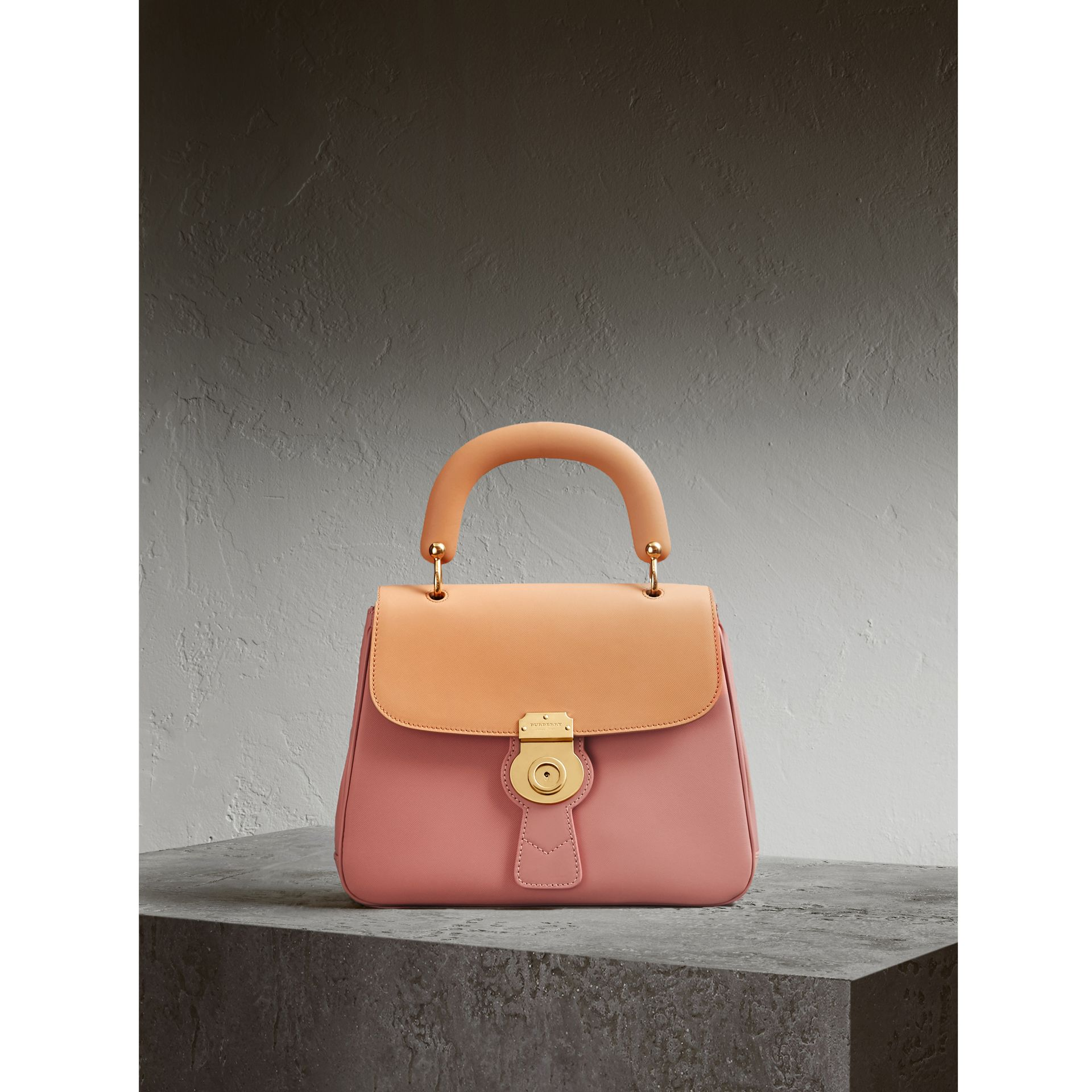 The Medium DK88 Top Handle Bag in Ash Rose/pale Clementine - Women | Burberry Australia - gallery image 1