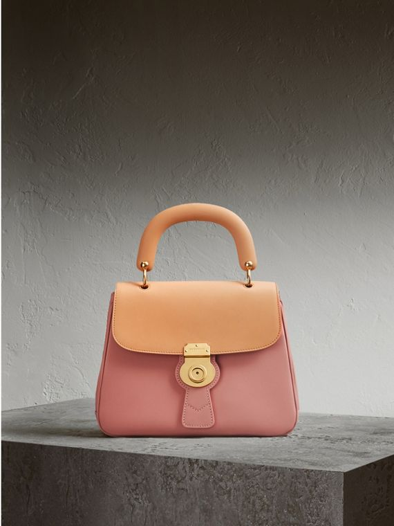 The Medium DK88 Top Handle Bag in Ash Rose/pale Clementine - Women | Burberry