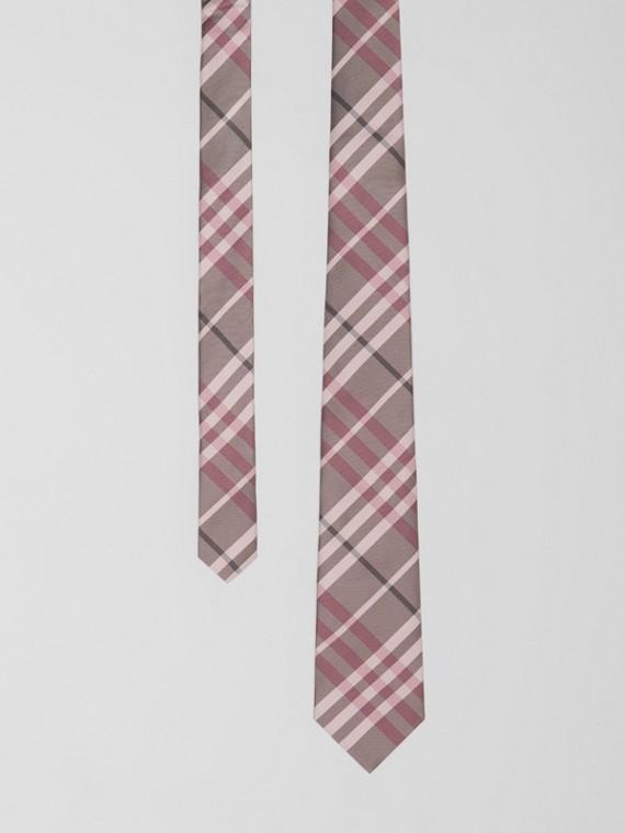 Cravate classique en soie Vintage check (Rose Craie)