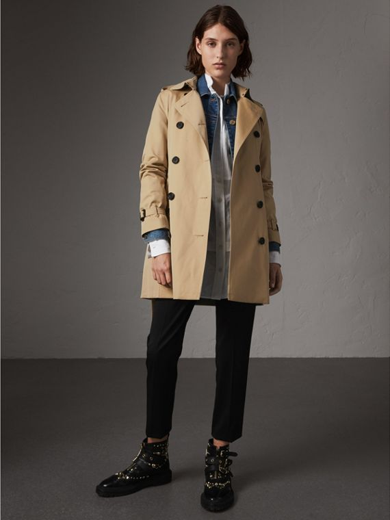 The Kensington – Mid-length Trench Coat in Honey