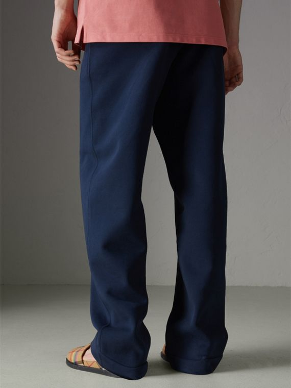 Archive Logo Jersey Sweatpants in Dark Blue - Men | Burberry Hong Kong - cell image 2