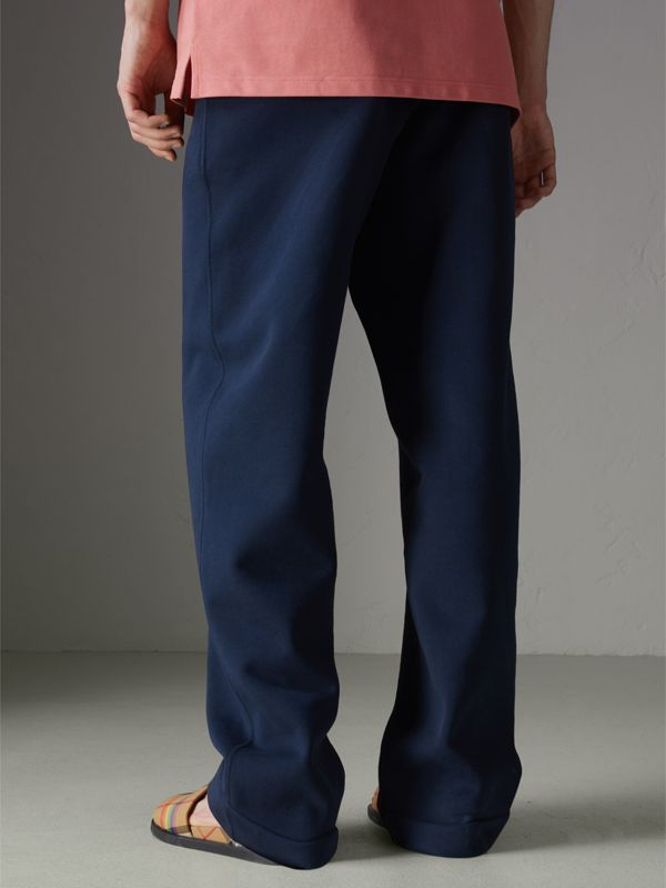 Archive Logo Jersey Sweatpants in Dark Blue - Men | Burberry - cell image 2