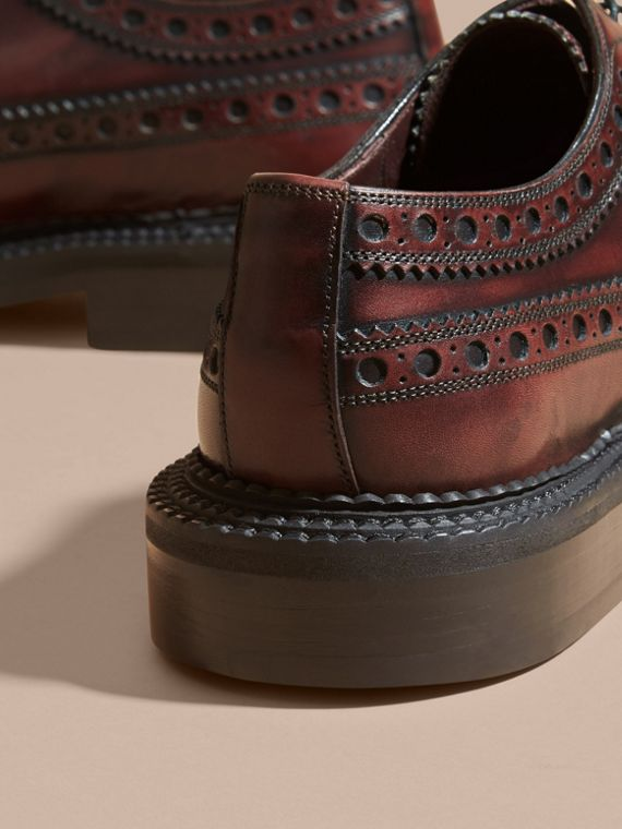 Bordeaux Leather Derby Brogues - cell image 3