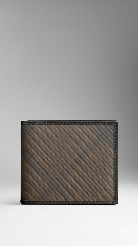Smoked check chocolate Smoked Check Divider Wallet - Image 2