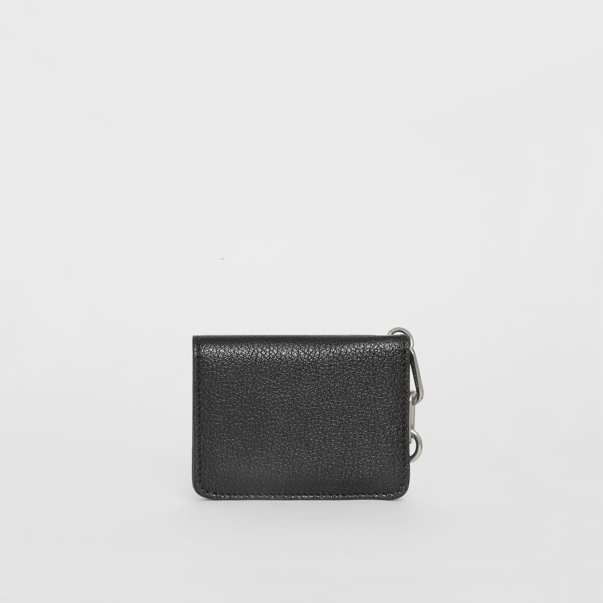 Link Detail Leather ID Card Case Charm in Black | Burberry United Kingdom - gallery image 5