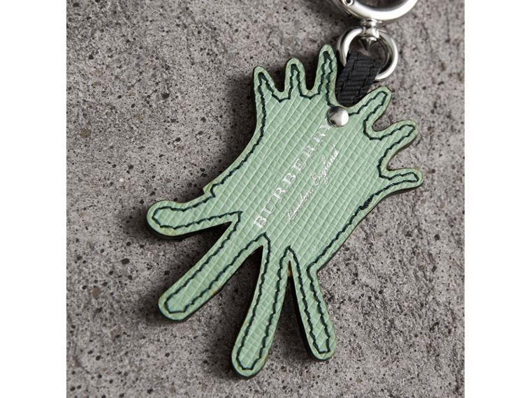 Creature Motif Leather Trim Key Ring in Light Mint - Men | Burberry - cell image 2