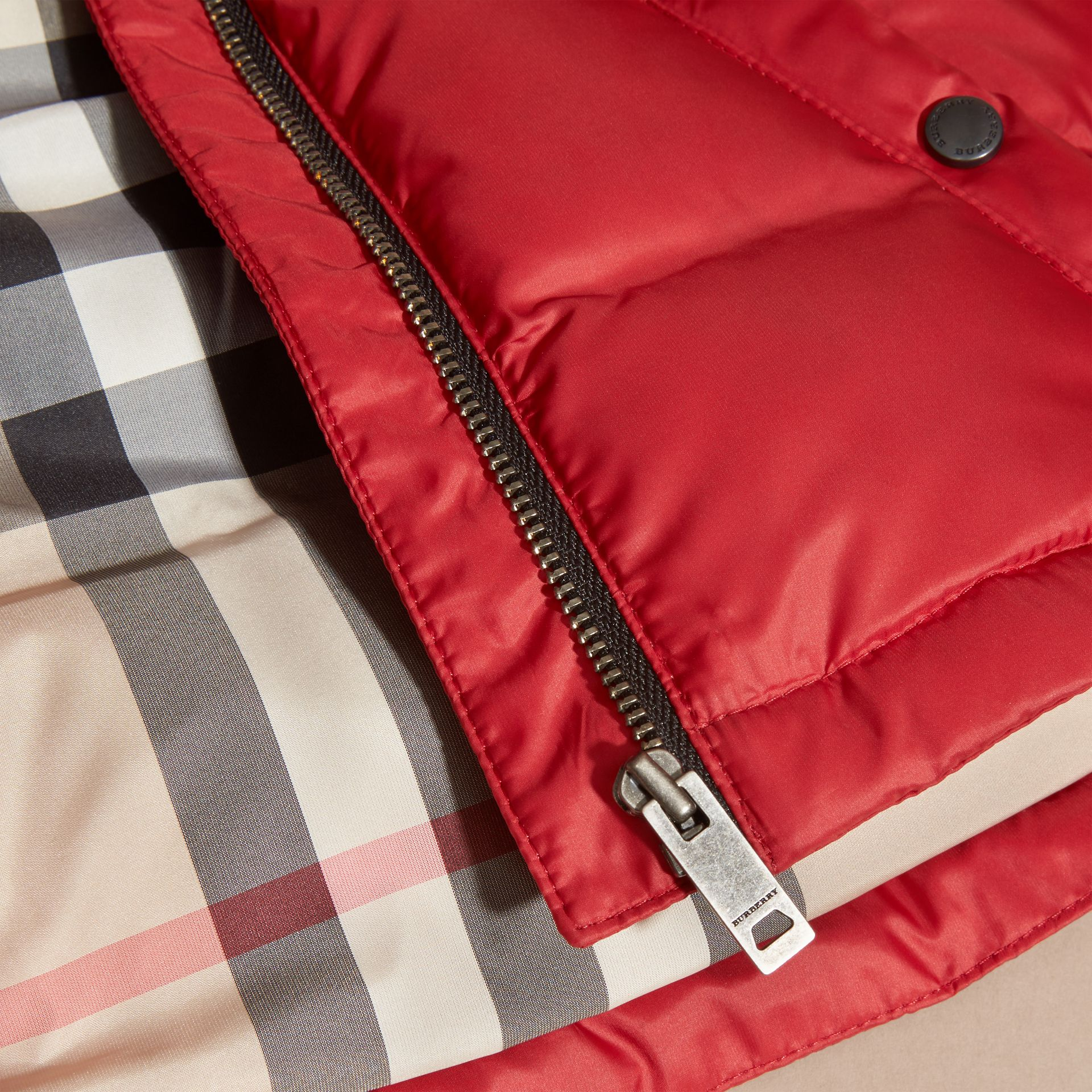 Military red Reversible Puffer Coat Military Red - gallery image 2