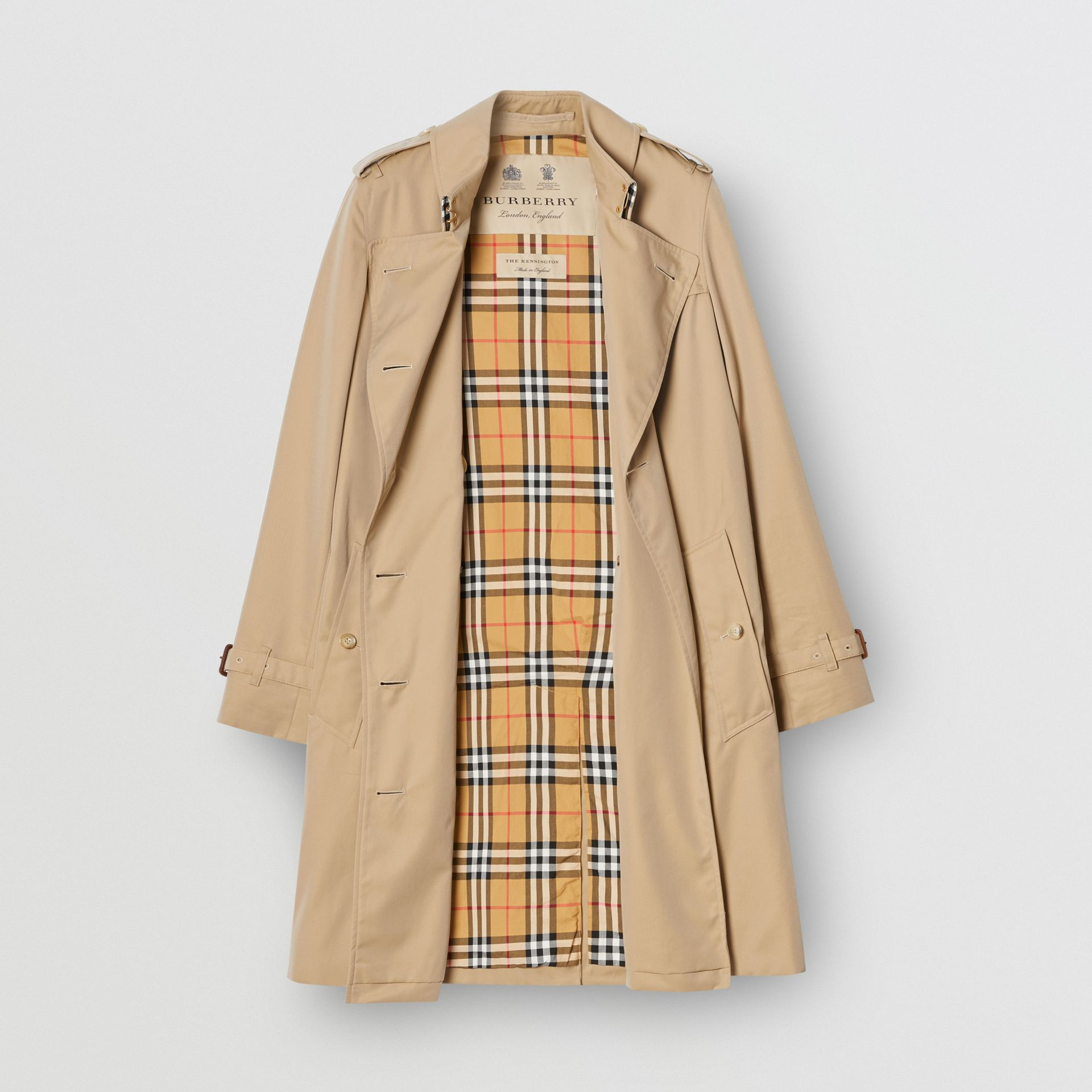 The Mid-length Kensington Heritage Trench Coat in Honey - Women | Burberry United Kingdom - gallery image 8