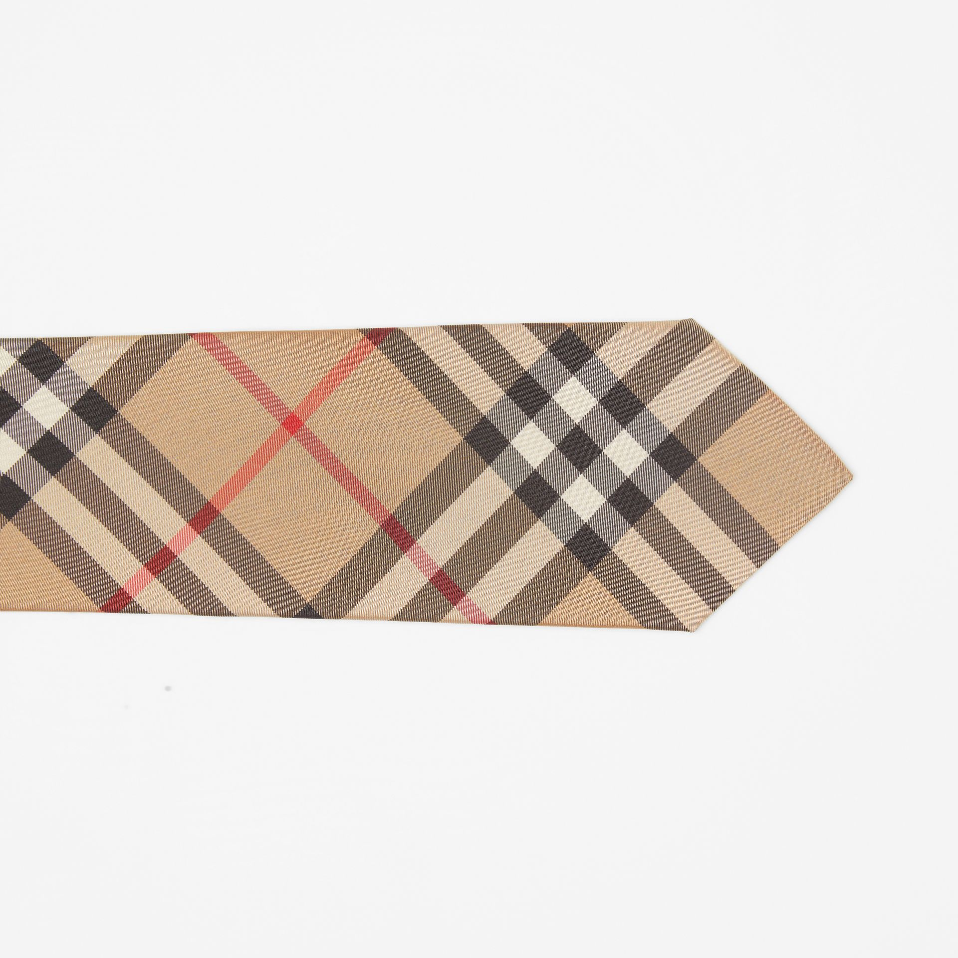 Modern Cut Vintage Check Silk Tie in Archive Beige - Men | Burberry United States - gallery image 1