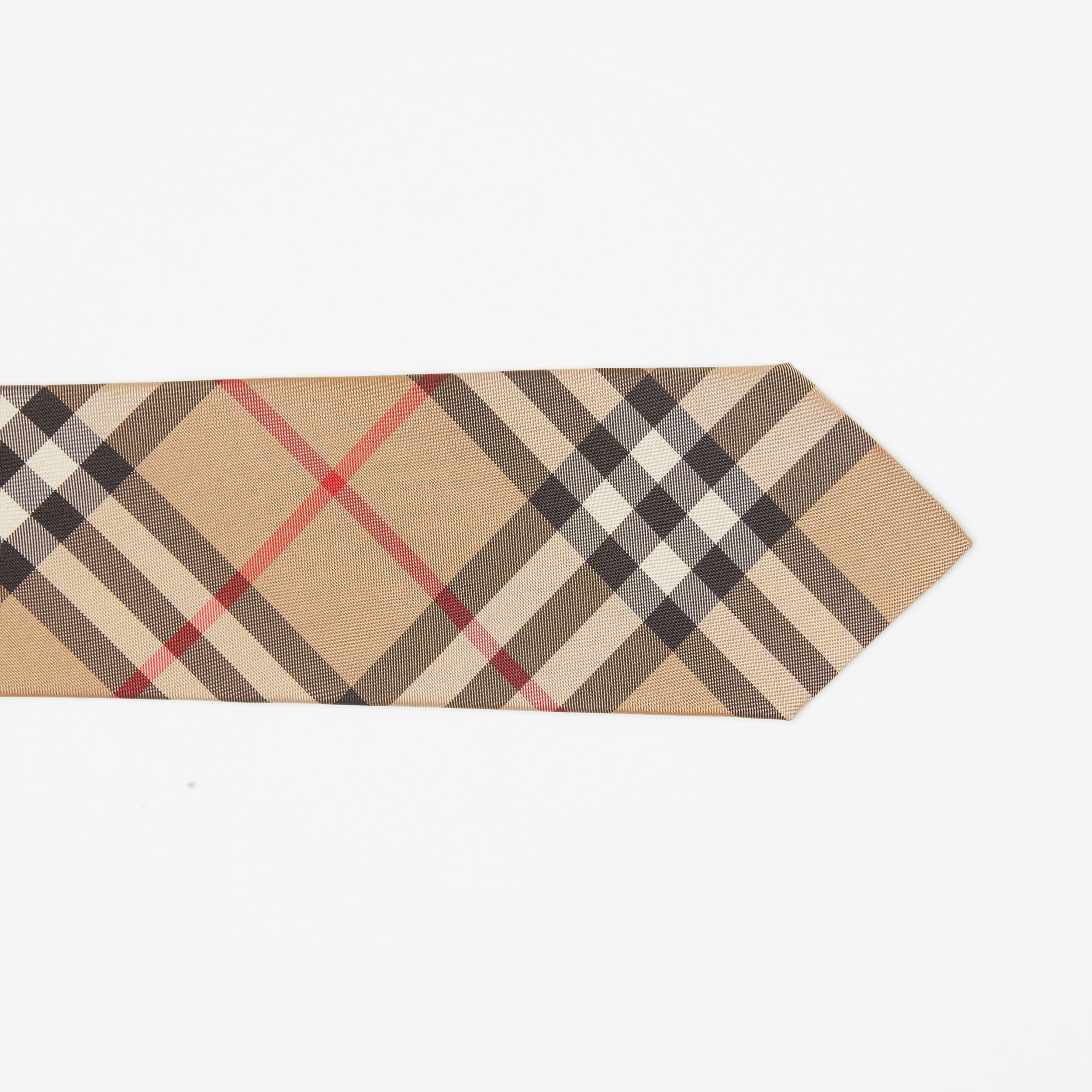 Modern Cut Vintage Check Silk Tie in Archive Beige - Men | Burberry - 2