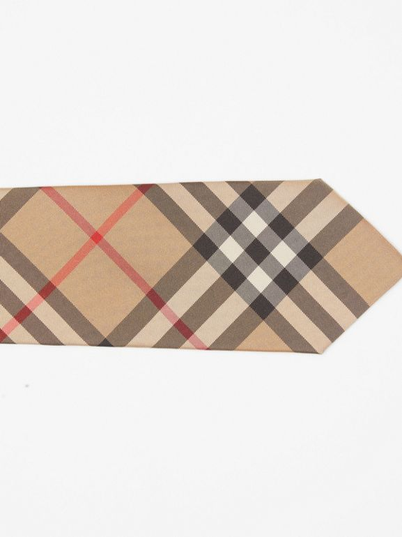 Modern Cut Vintage Check Silk Tie in Archive Beige - Men | Burberry United States - cell image 1