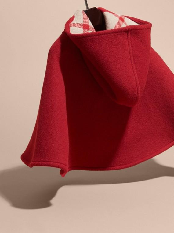 Rosso windsor Mantella svasata in lana con cappuccio Rosso Windsor - cell image 3