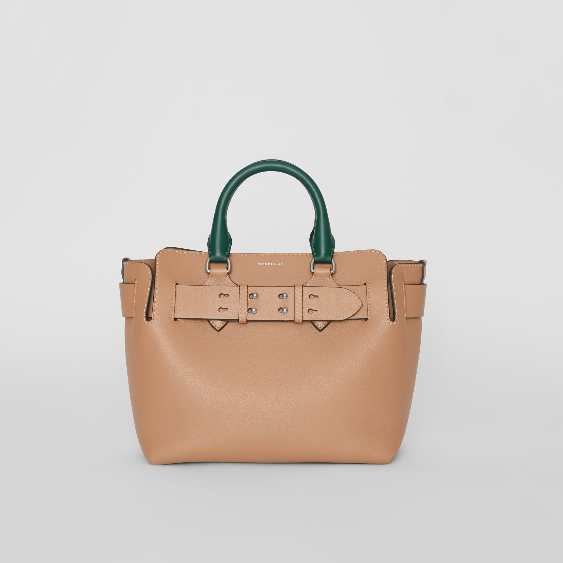 The Small Tri-tone Leather Belt Bag in Light Camel - Women | Burberry United Kingdom - gallery image 0