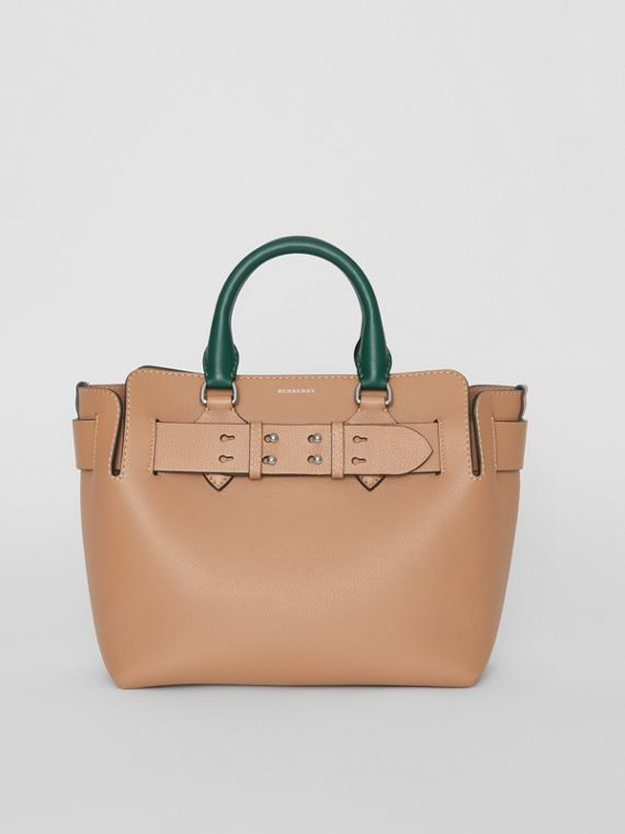 Petit sac The Belt en cuir tricolore (Camel Clair)