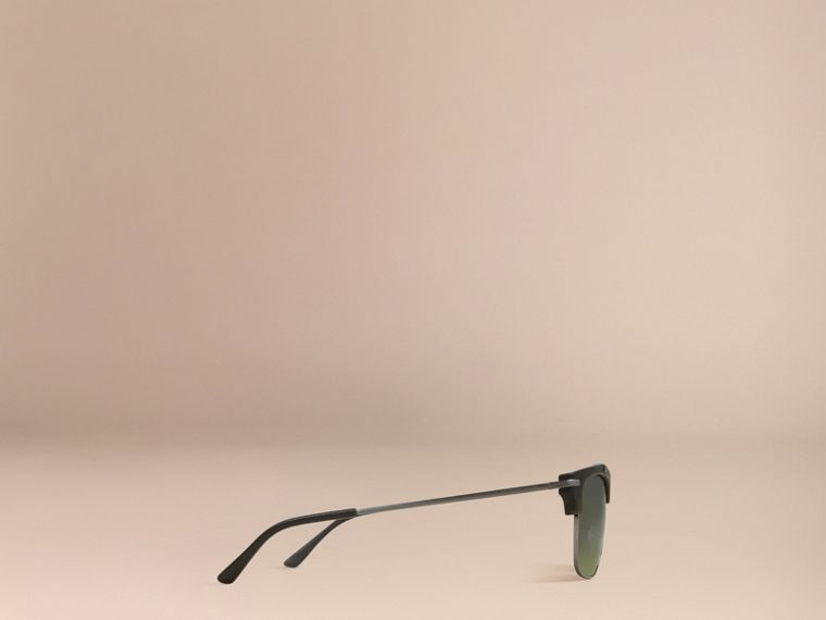 Square Frame Sunglasses Olive - cell image 4