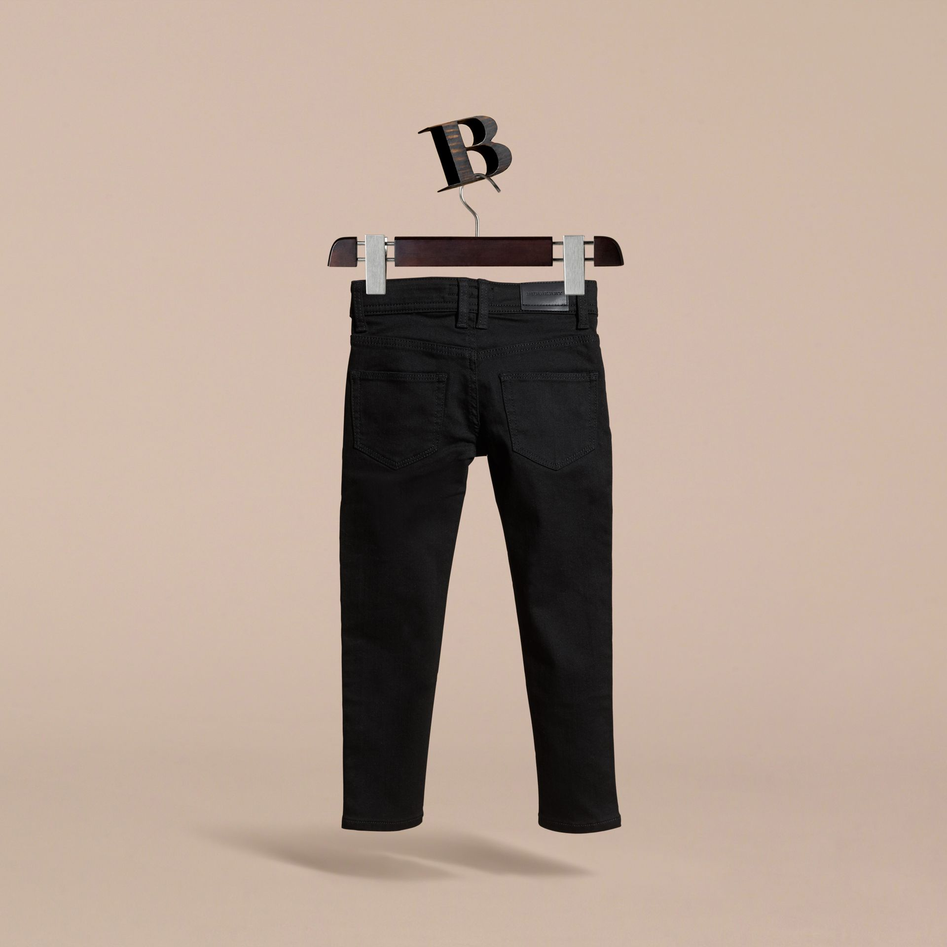 Skinny Fit Jeans in Black - Girl | Burberry Australia - gallery image 4