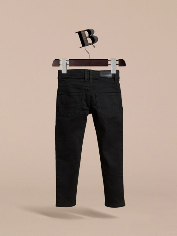 Skinny Fit Jeans in Black - Girl | Burberry - cell image 3