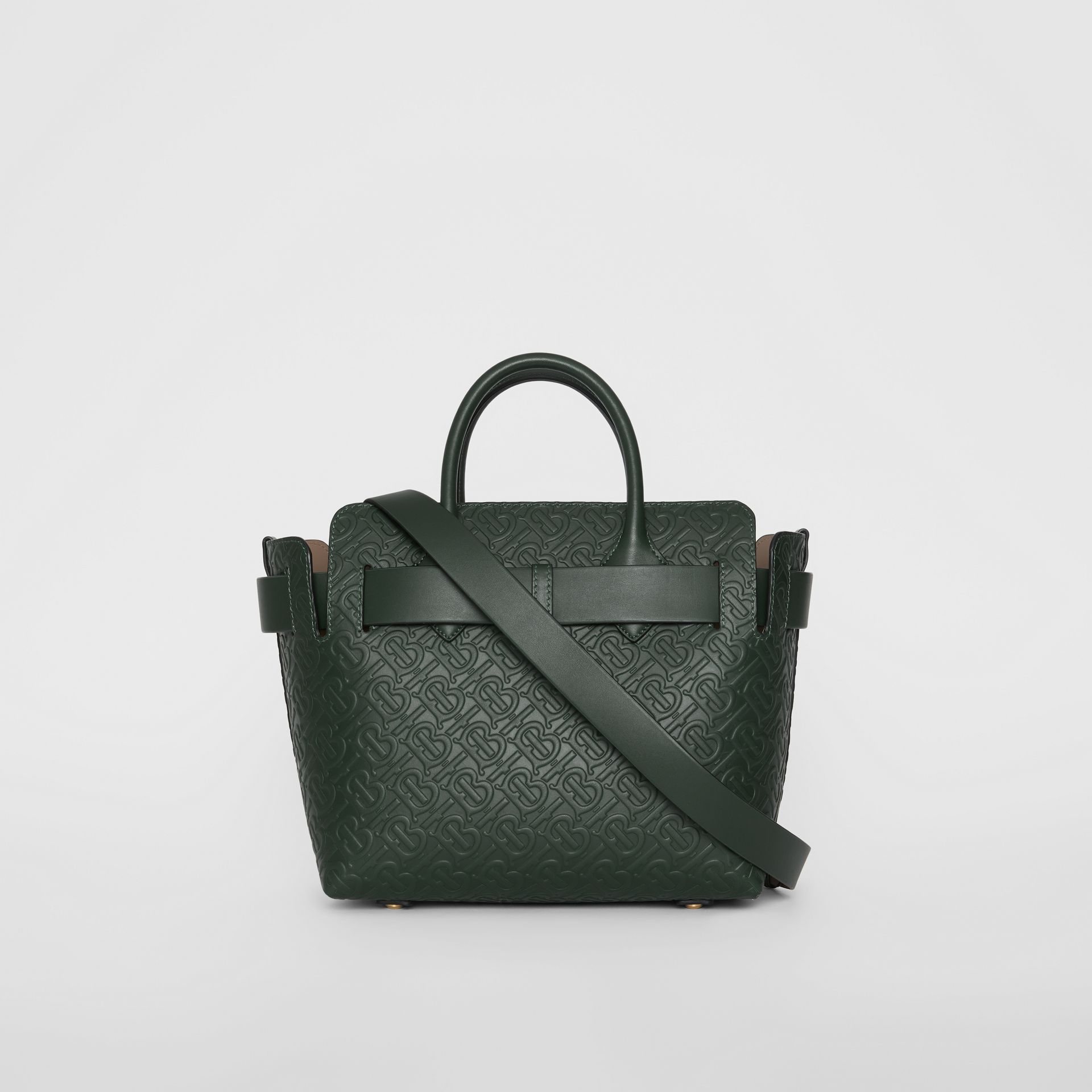 The Small Monogram Leather Triple Stud Belt Bag in Pine Green - Women | Burberry - gallery image 7
