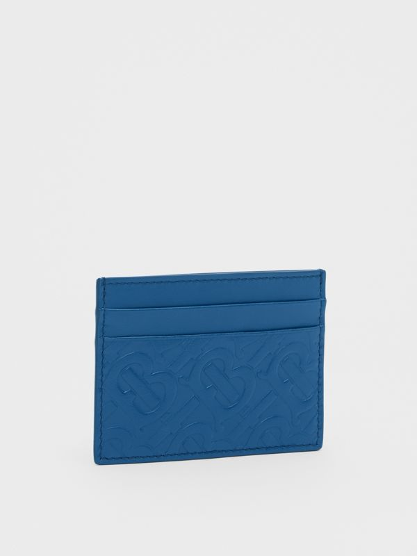 Monogram Leather Card Case in Pale Canvas Blue - Men | Burberry Hong Kong S.A.R - cell image 3