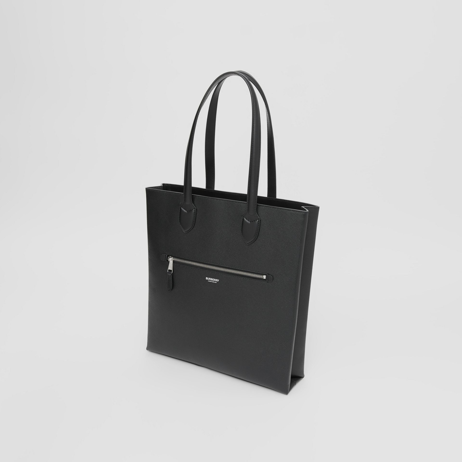 Medium Grainy Leather Tote in Black - Men | Burberry - gallery image 3