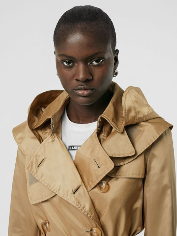 Detachable Hood ECONYL® Trench Coat in Honey - Women | Burberry - cell image 1