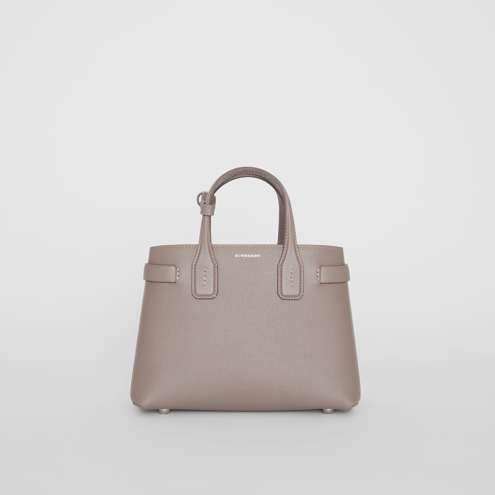 The Small Banner in Leather and Vintage Check in Taupe Brown - Women | Burberry - gallery image 6