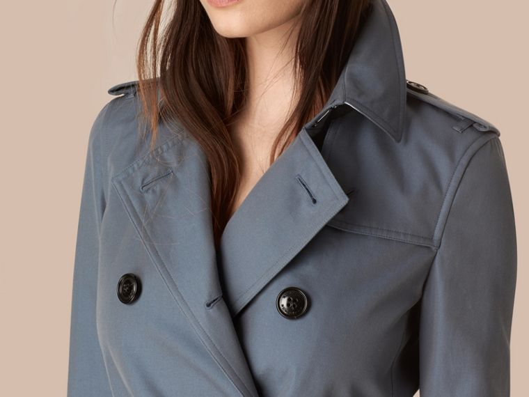 Empire blue Lightweight Cotton Gabardine Trench Coat Empire Blue - cell image 1