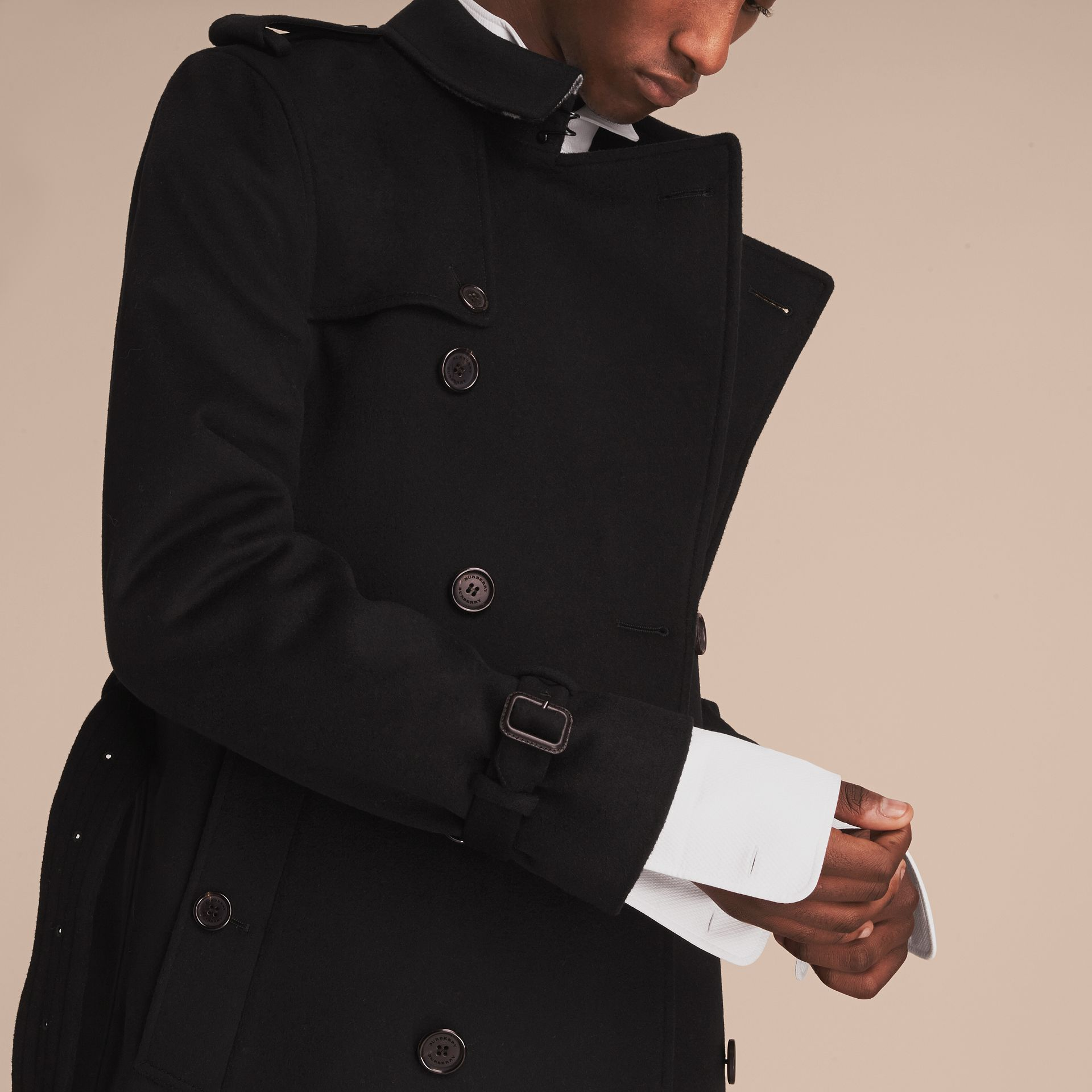 Wool Cashmere Trench Coat - gallery image 5