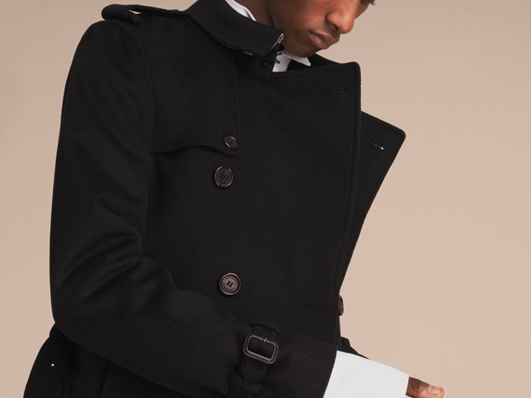 Trench coat in lana e cashmere - cell image 4