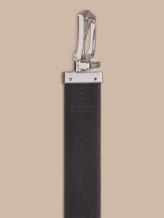 Reversible London Leather Belt in Mineral Blue/black - Men | Burberry - cell image 3