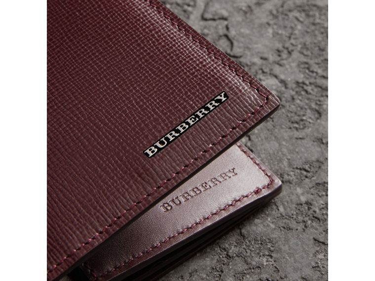 London Leather Continental Wallet in Burgundy Red - Men | Burberry - cell image 1