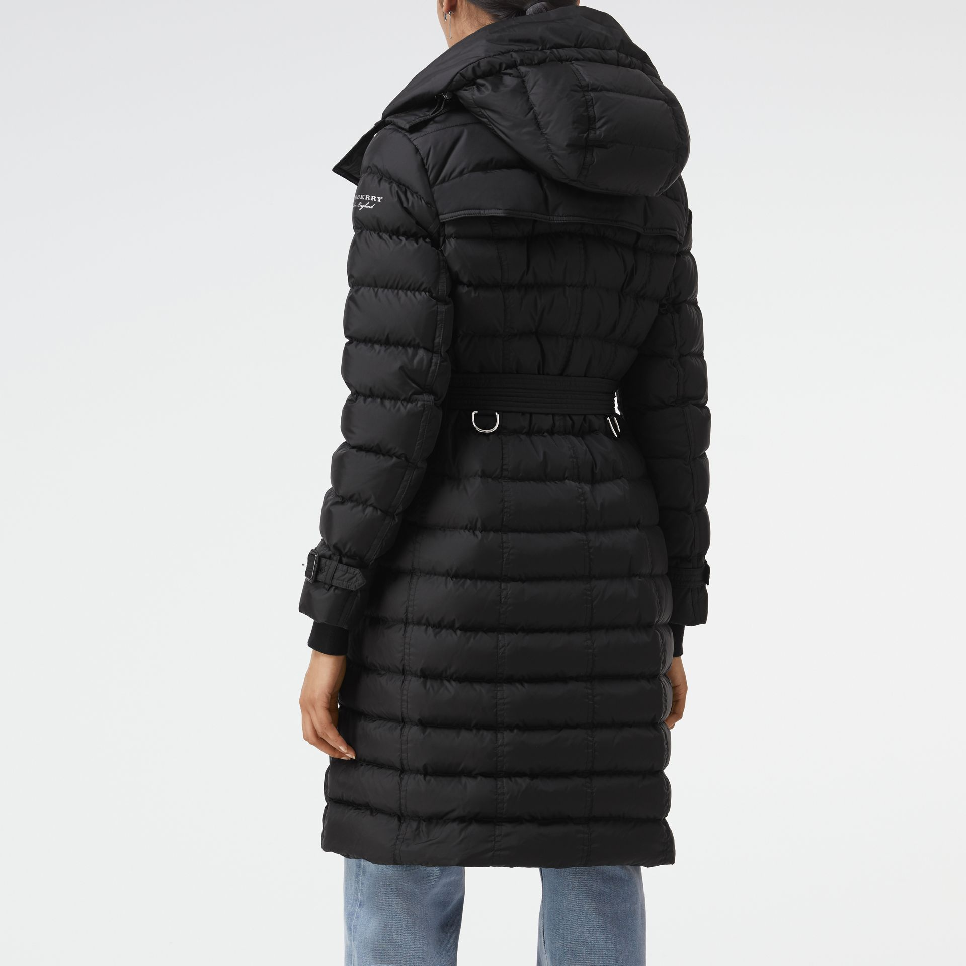 Detachable Hood Down-filled Puffer Coat in Black - Women | Burberry Hong Kong - gallery image 2