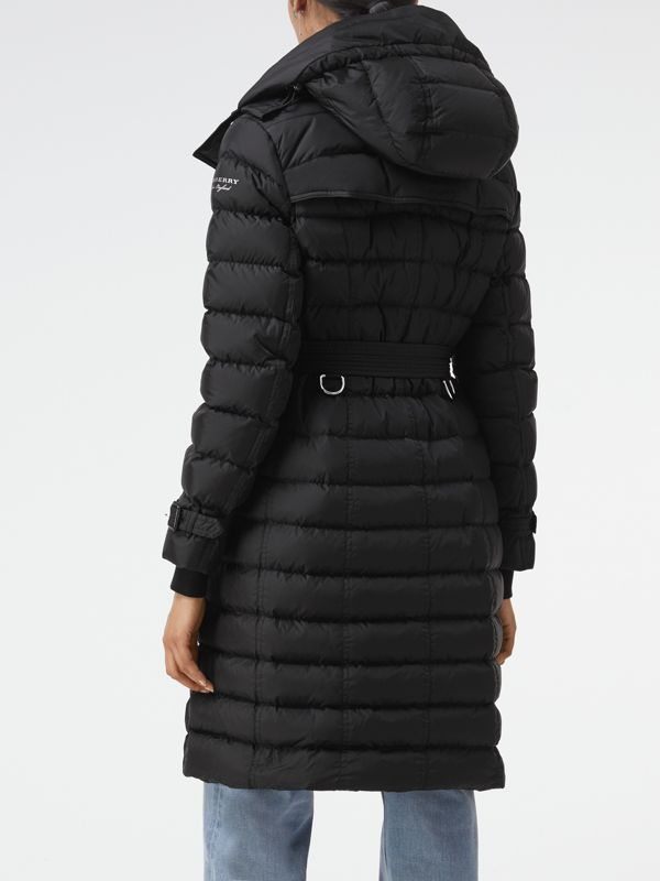 Detachable Hood Down-filled Puffer Coat in Black - Women | Burberry - cell image 2